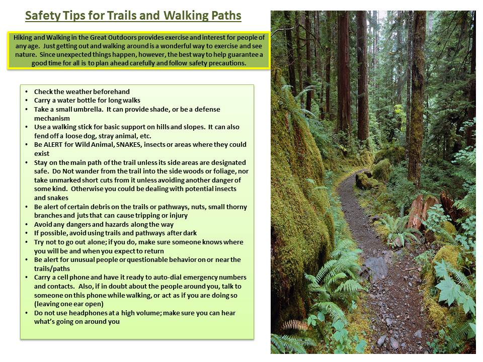 Walking Trail-Path Rules