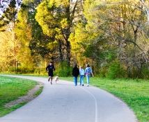 People Walking Indian Creek Greenway