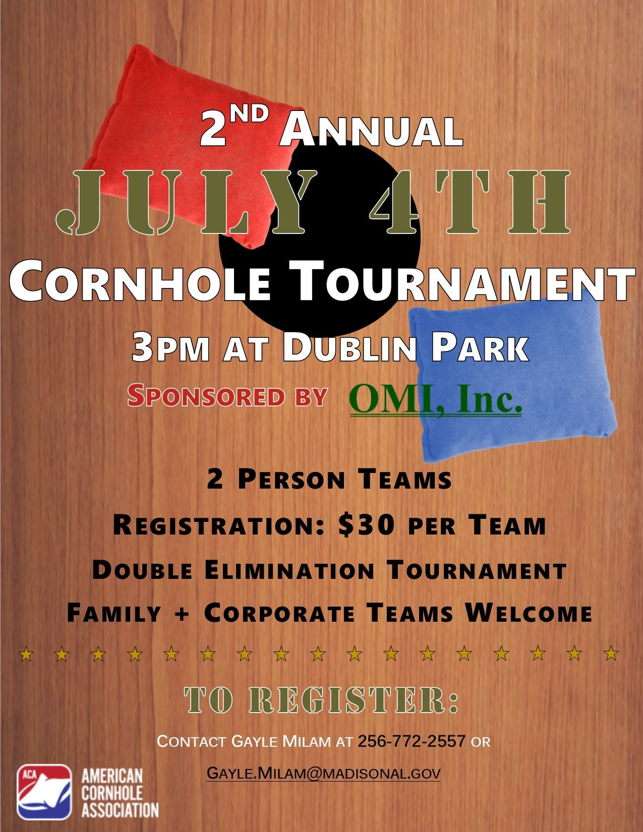 2019 Cornhole Tournament Flier (3)