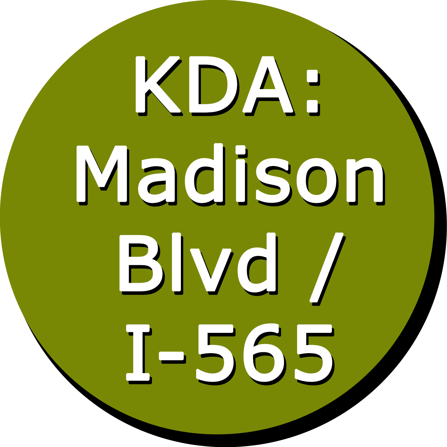 KDA: Madison Boulevard / I-565 Button