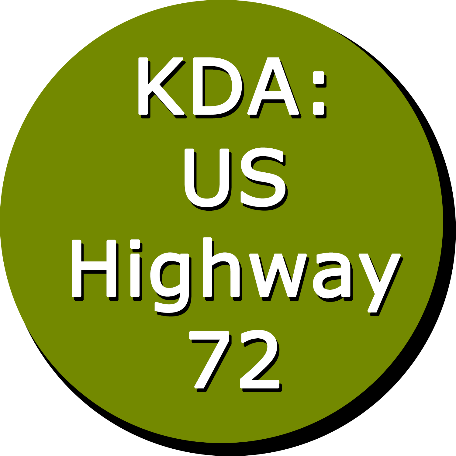 KDA: US Highway 72 Button