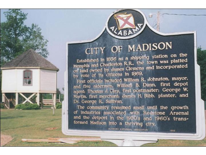 City of Madison Sign